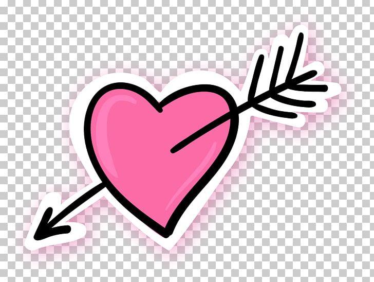Arrow Through The Heart Pink Blue PNG, Clipart, Arrow, Blue.