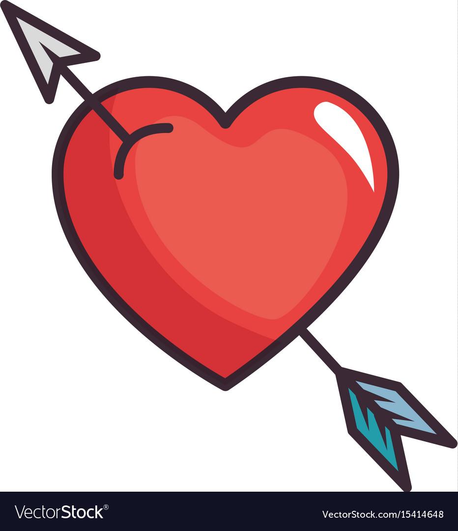 Cute arrow heart.