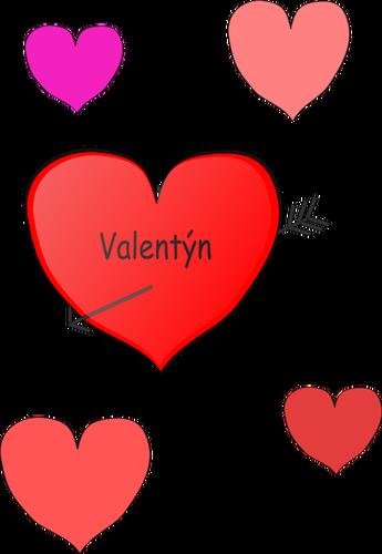 Heart and arrow vector graphics.