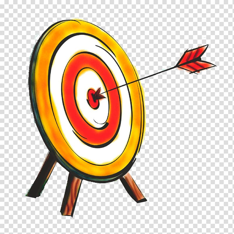 Arrow hit bull\'s eye art, Bullseye Shooting target Arrow.