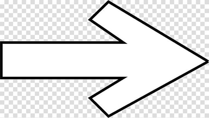 White and black arrow to right, Arrow Symbol Icon, Right.