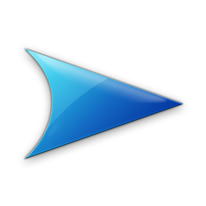 Blue right arrow icon #7589.