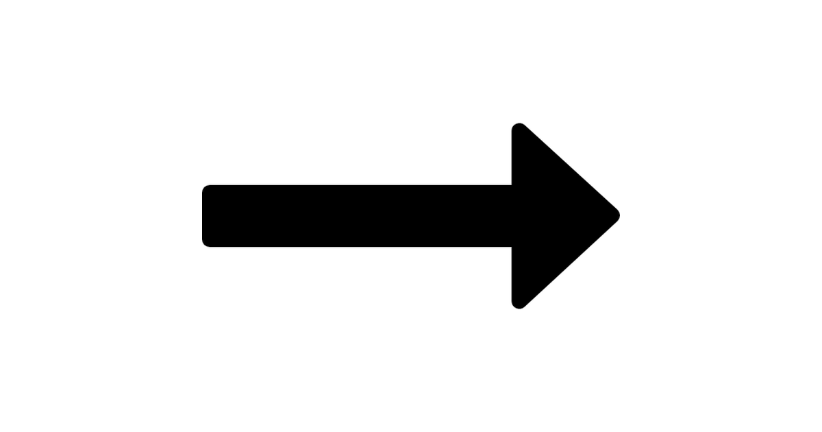 Long arrow pointing to the right.