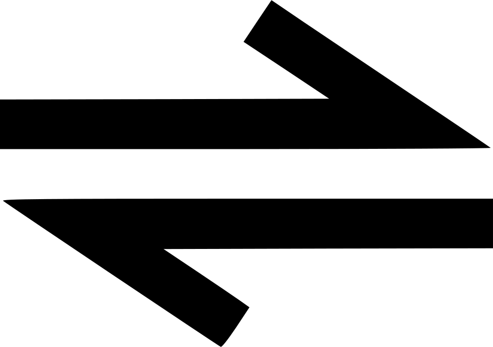 Direction Bidirectional Way Twoway Path Arrow Svg Png Icon Free.