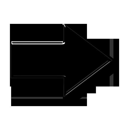 Soft white right arrow icon #7592.