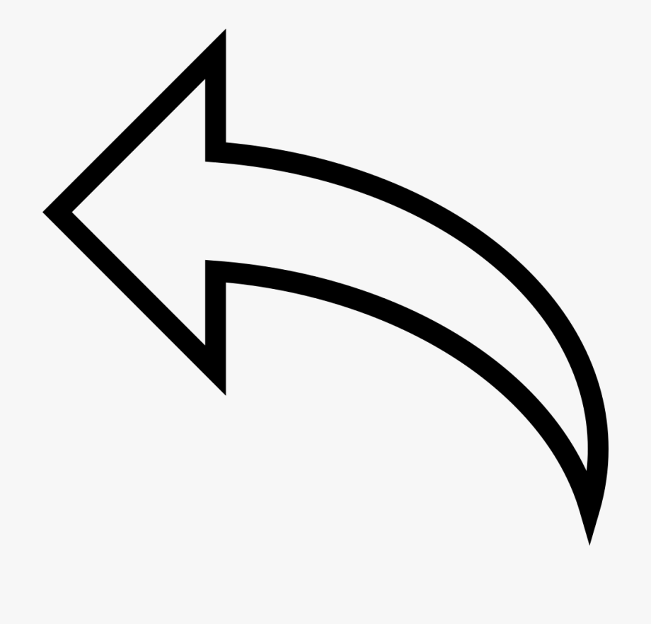 Curved Arrow Icon Png White #392358.