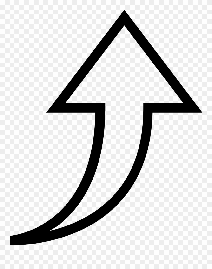 Up Vector Large Arrow Svg Black And White Stock.