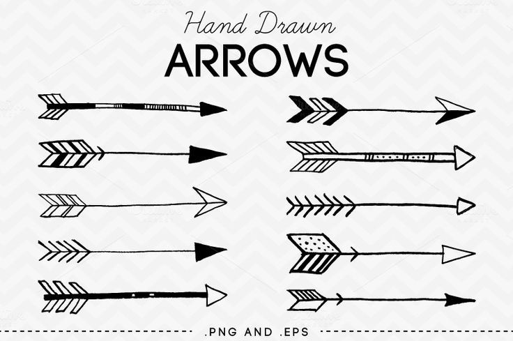 Free Drawn Arrow Clipart.