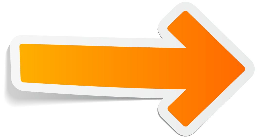Arrow Orange Right transparent PNG.