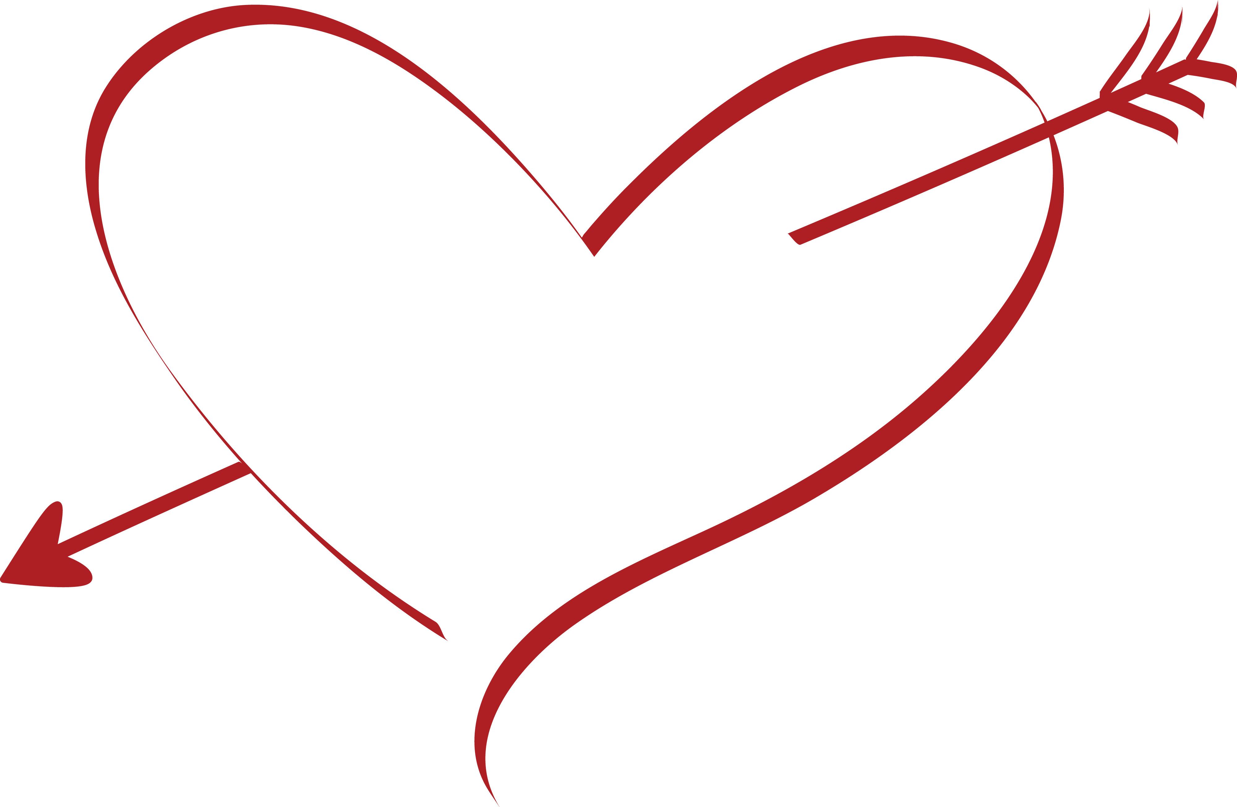 Arrow In Heart Shape Clipart.