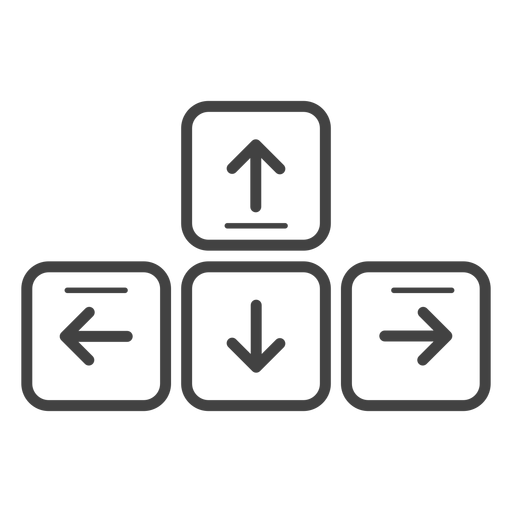 Keyboard arrow keys stroke icon.