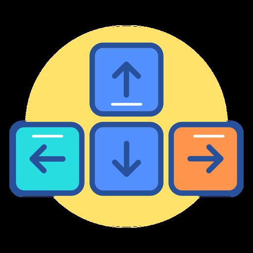 Keyboard arrow keys icon.