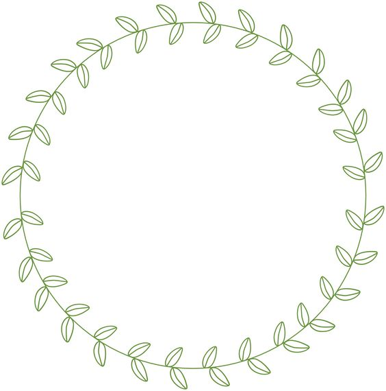 circle leaf border.