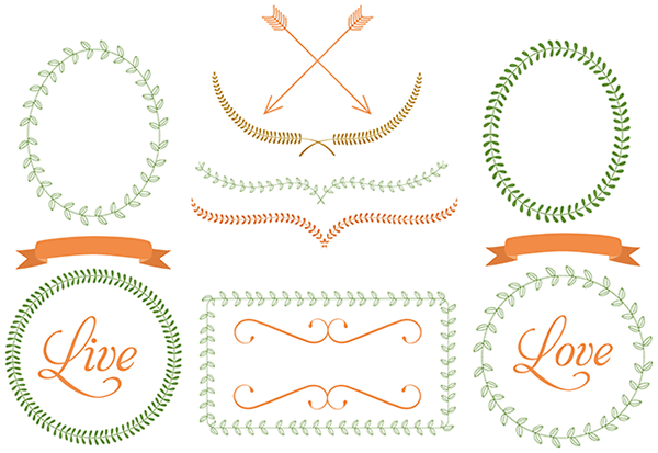 Free Laurel Frames & Arrows Clip Art.