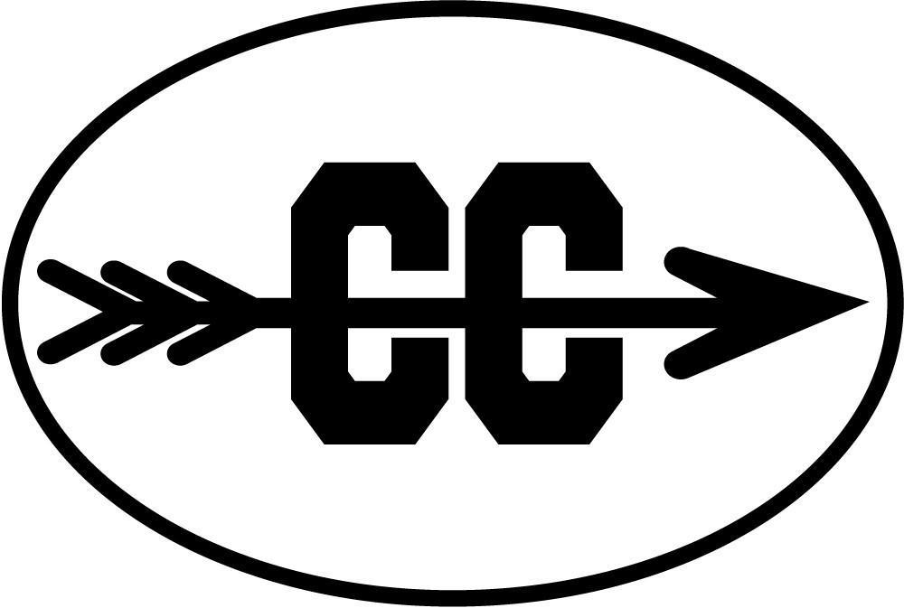 Cross country arrow black print oval magnet baysix jpg.