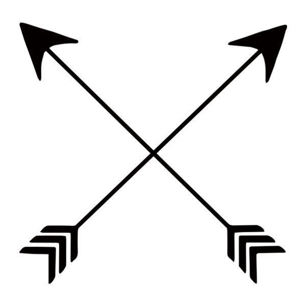 Did you know that crossed arrows are a Native American.