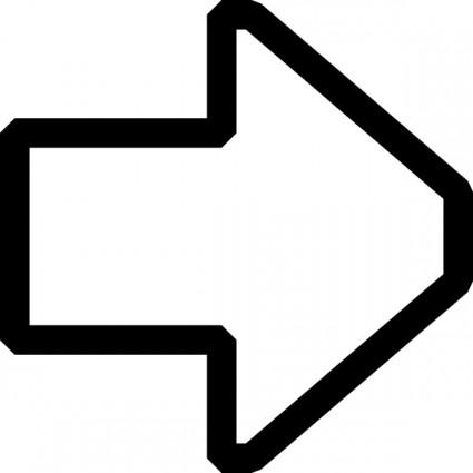 Right Outline Arrow Clip Art.
