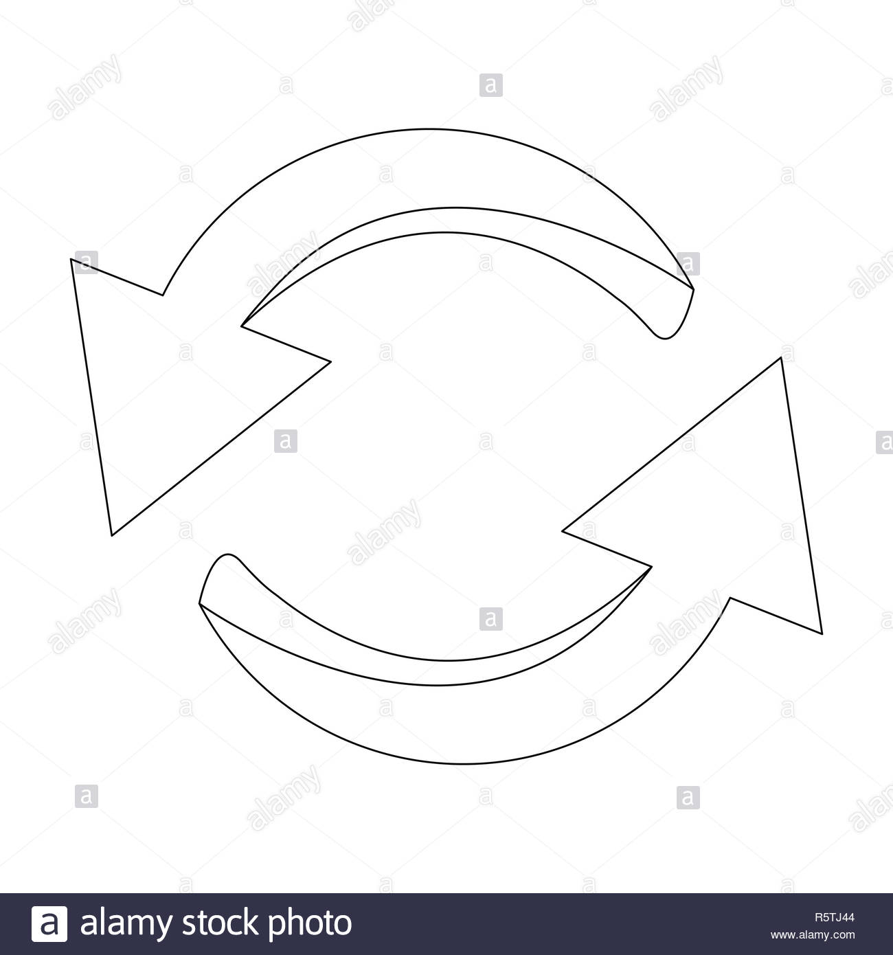 Arrow symbol, outline icon clipart cycle business concept. Vector.