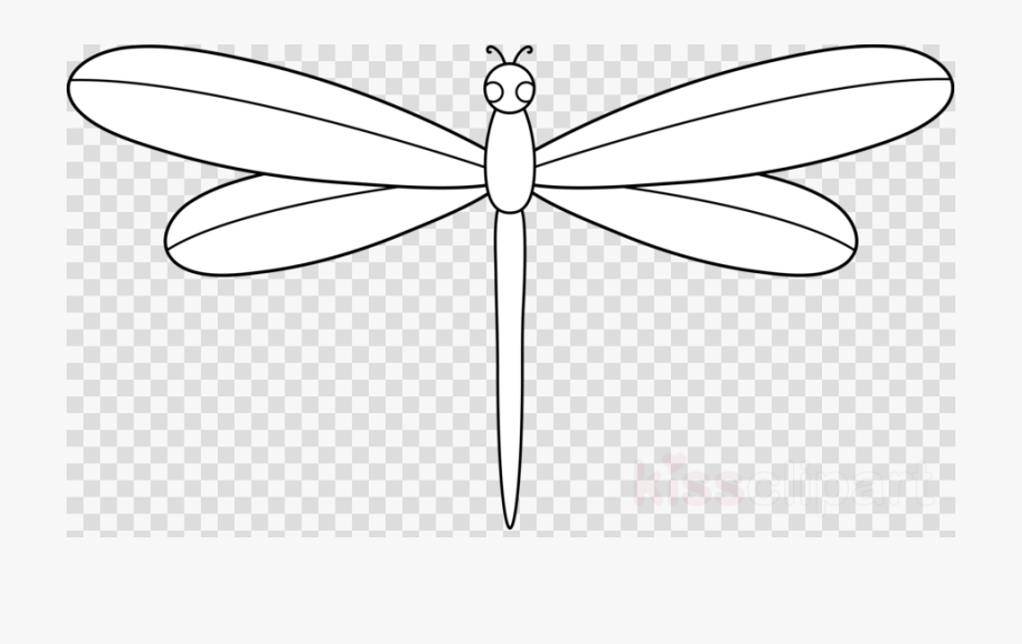 Dragonfly Clipart Outline Free.