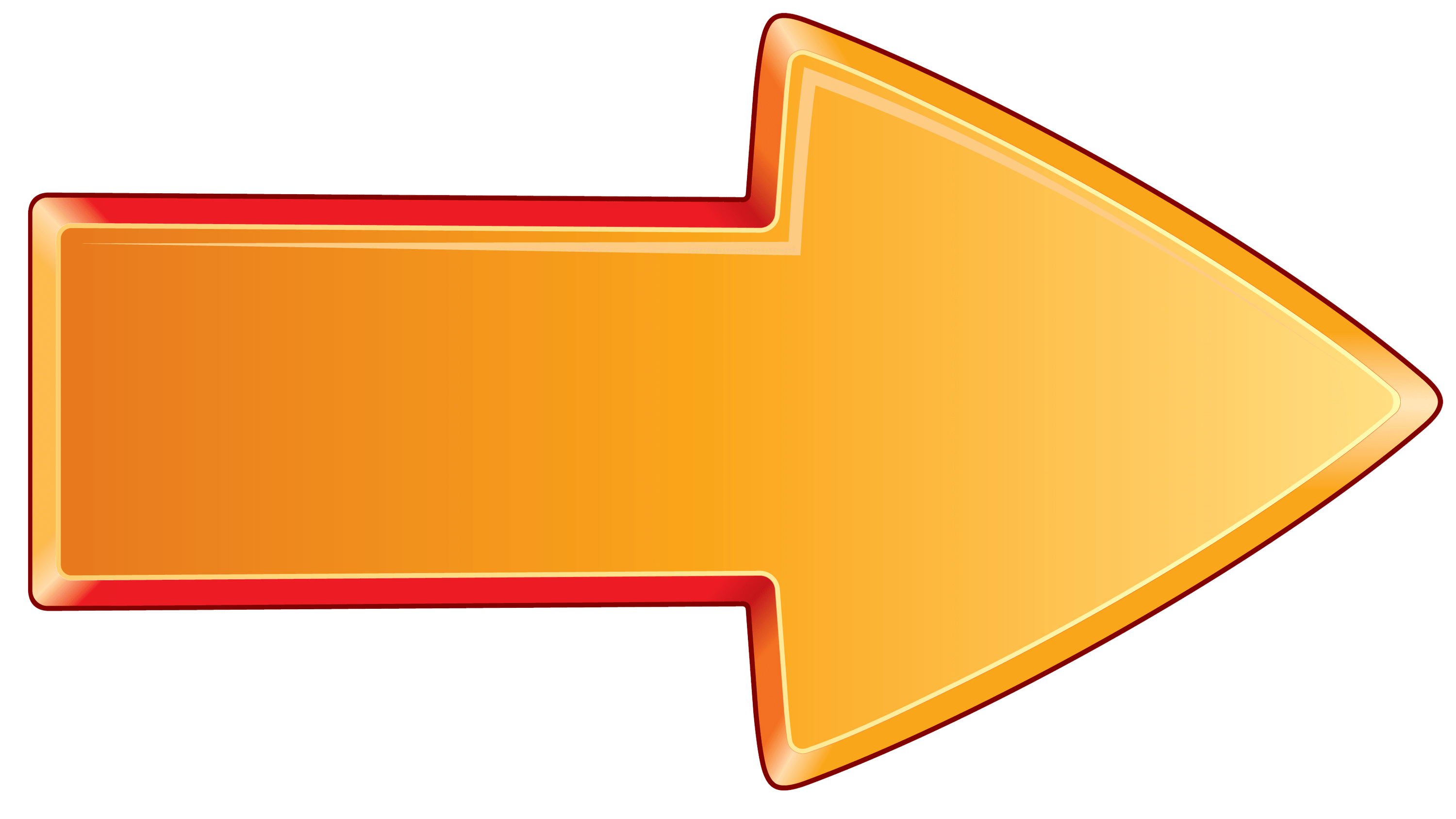 Arrow Bold Orange Right transparent PNG.