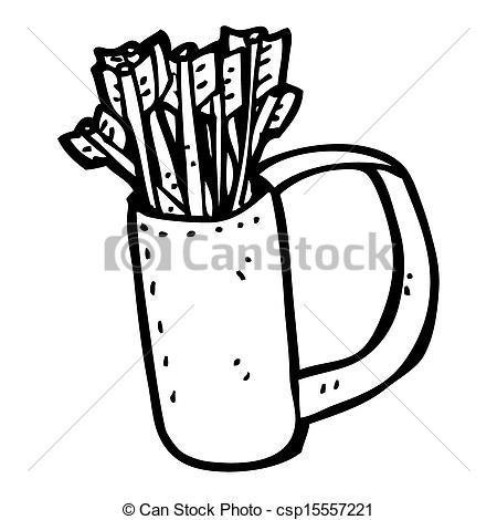 Clip Art of cartoon quiver of arrows csp15557221.
