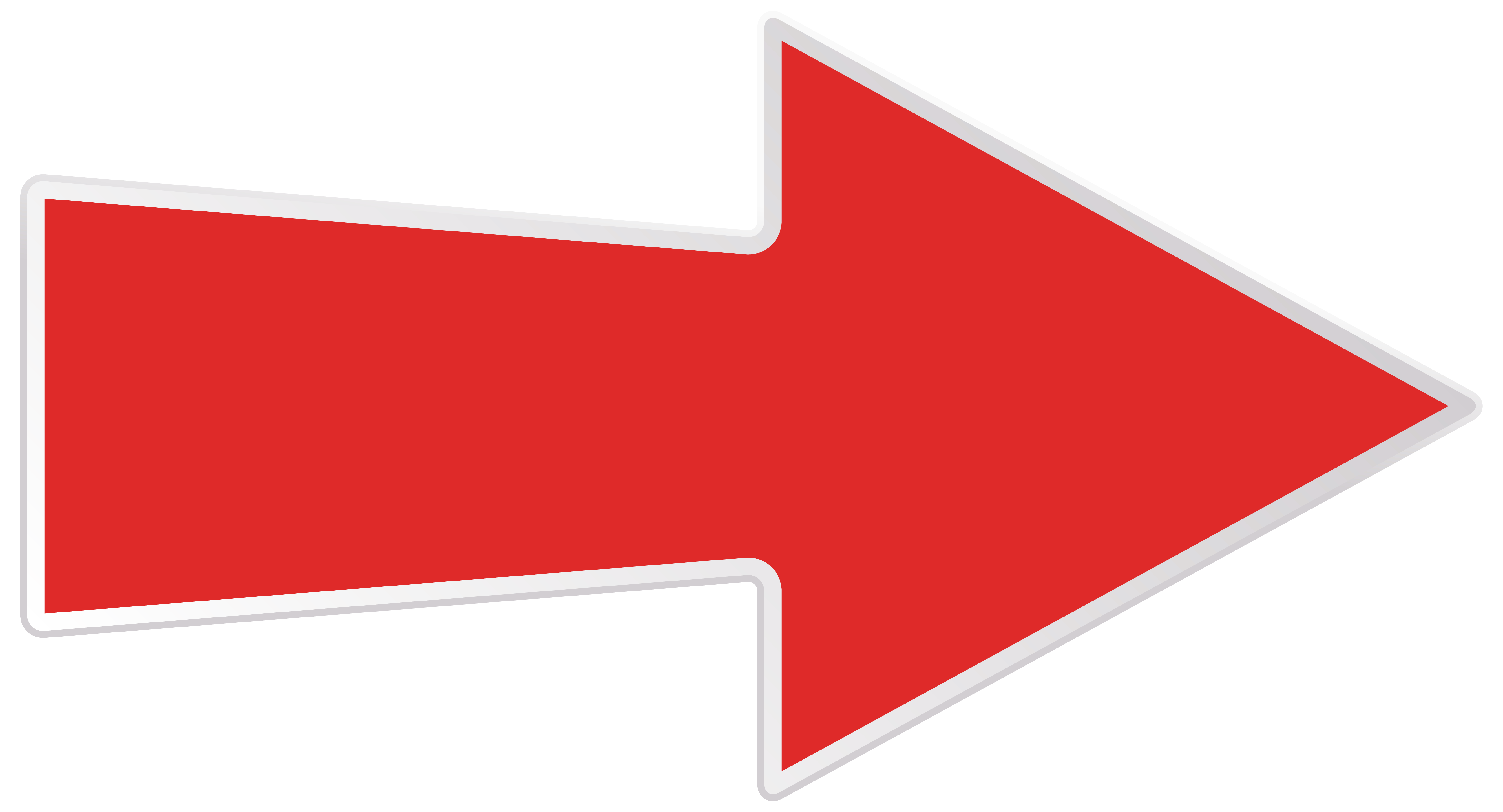 Red Right Arrow Transparent PNG Clip Art Image.