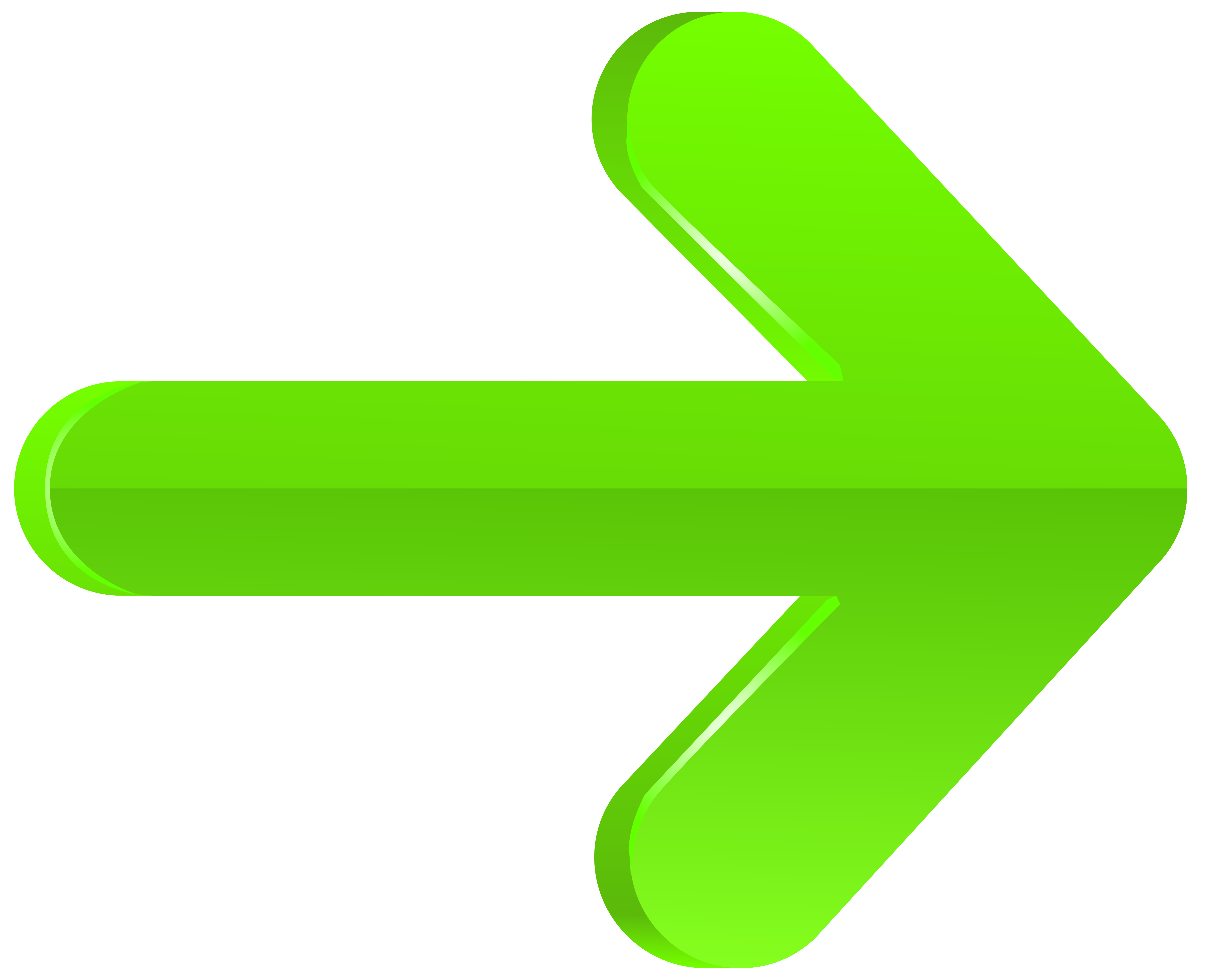 Arrow Right Green PNG Transparent Clip Art Image.
