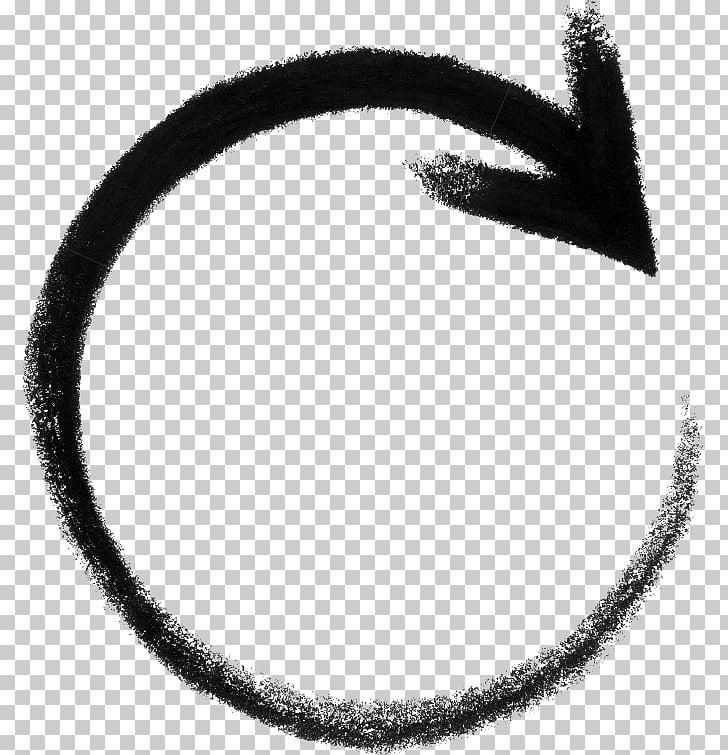 Circle Arrow Diagram , round, gray arrow art PNG clipart.