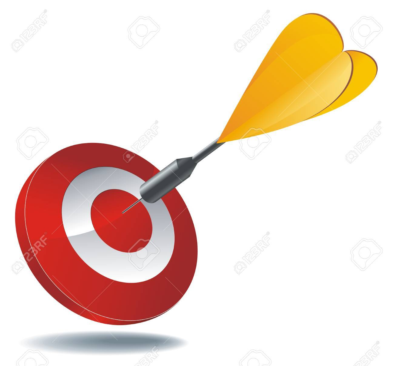 icon as red target with yellow dart arrow inside.