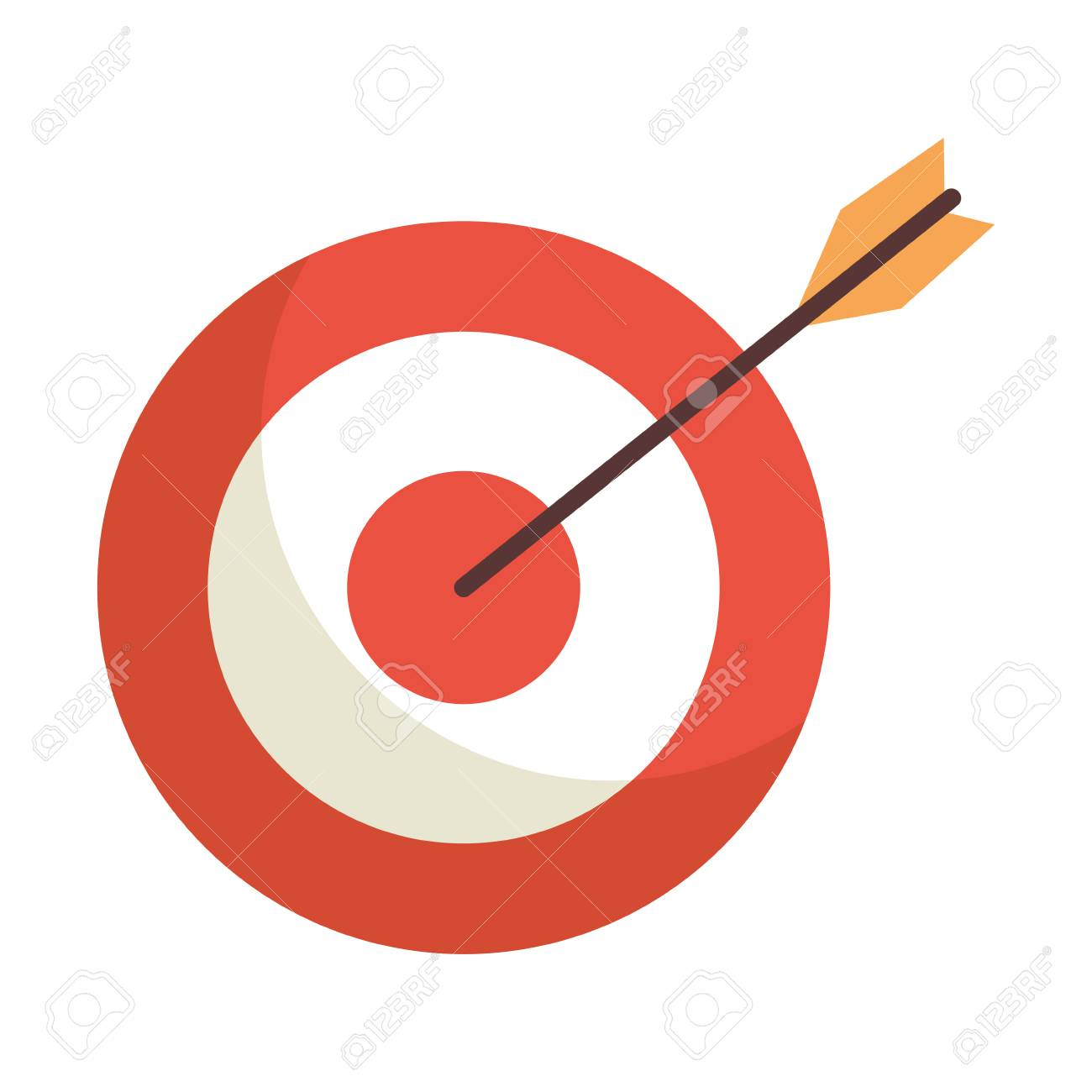 target with arrow icon vector illustration design.