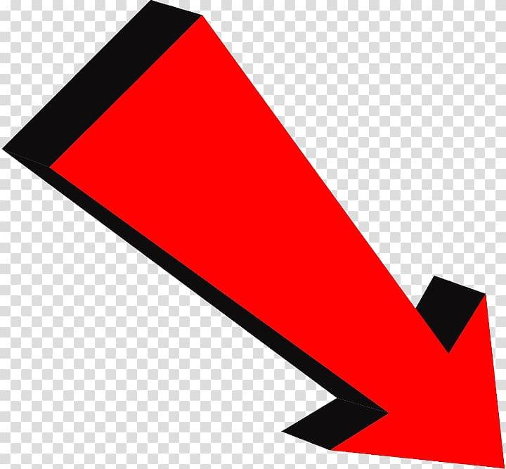 Red down arrow illustration, Arrow Symbol, The bottom right arrow.