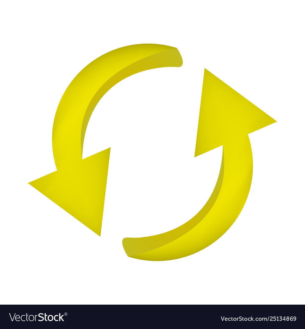 Arrow symbol yellow icon clipart cycle business.