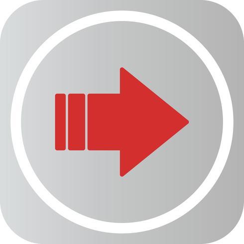 Vector Rightward Arrow Icon.