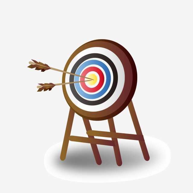 Arrow Target, Archery Target, Blue, Cdr PNG Transparent Clipart.