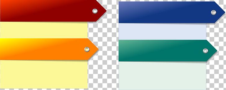 Text box Arrow, Creative color text box material, empty.