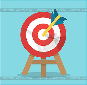 Round target with an arrow in the center.