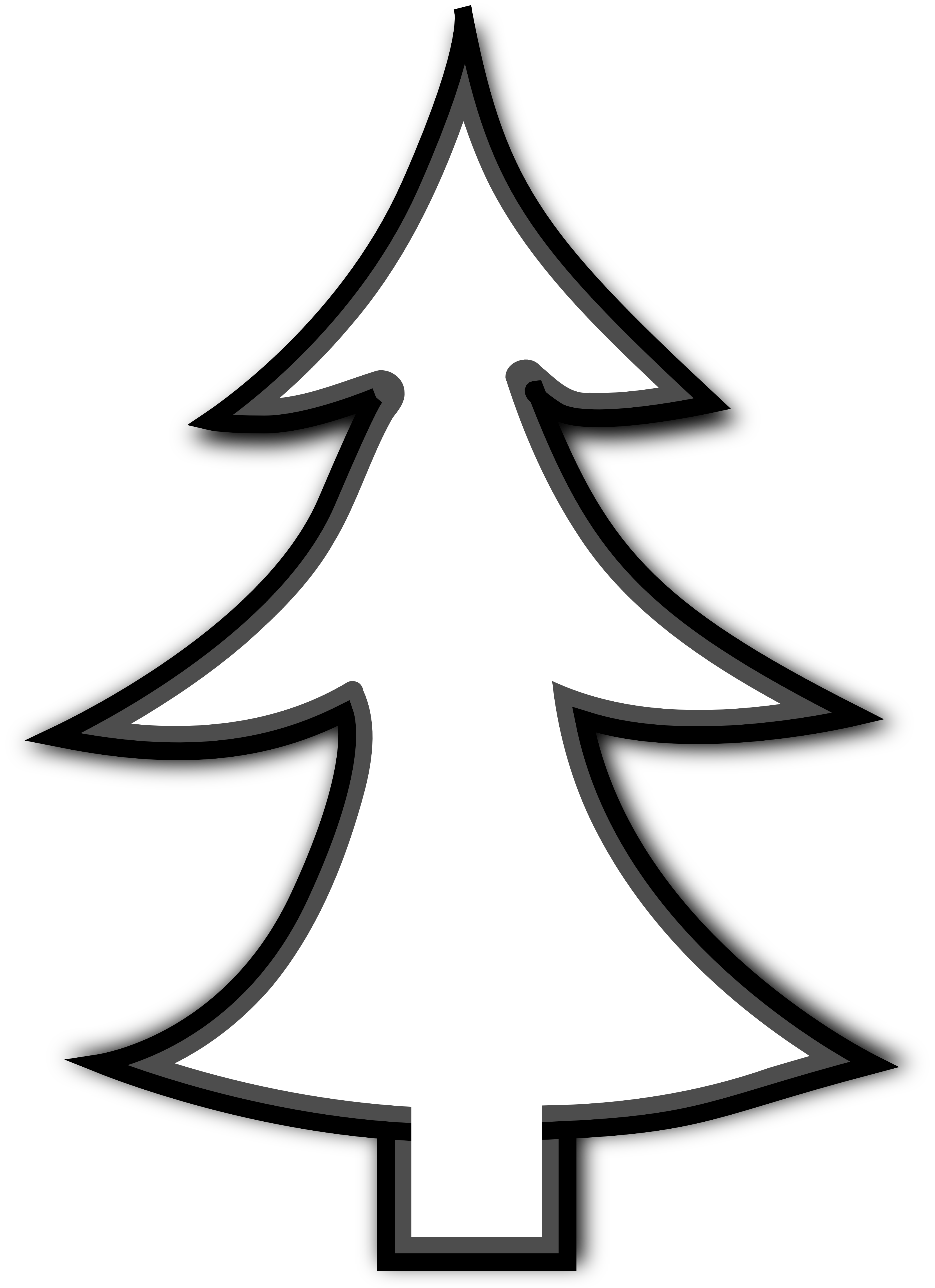 Christmas tree Line art Clip art.