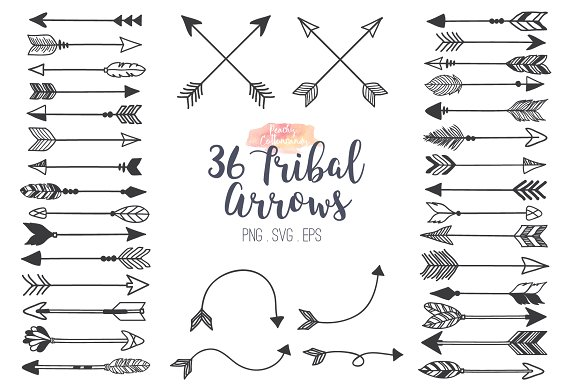 Tribal Arrows Clipart.
