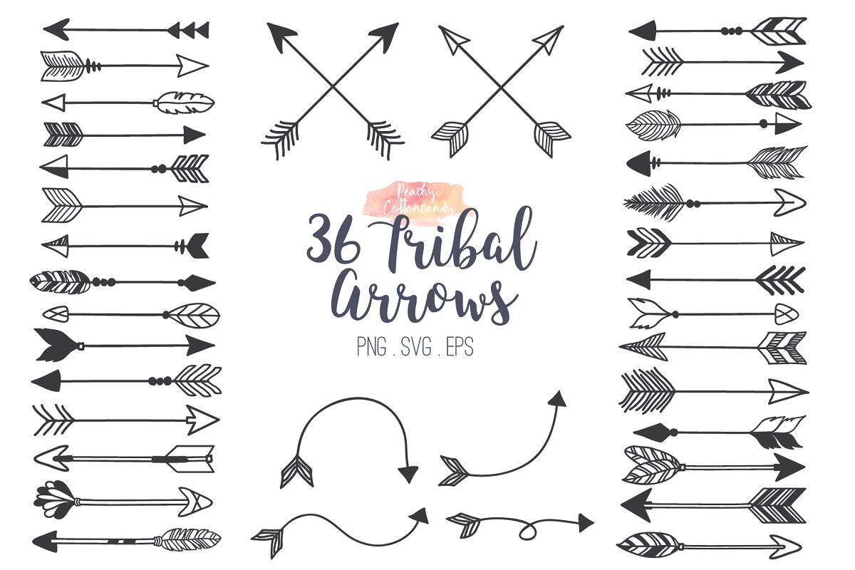 Tribal Arrows Clipart ~ Illustrations ~ Creative Market.