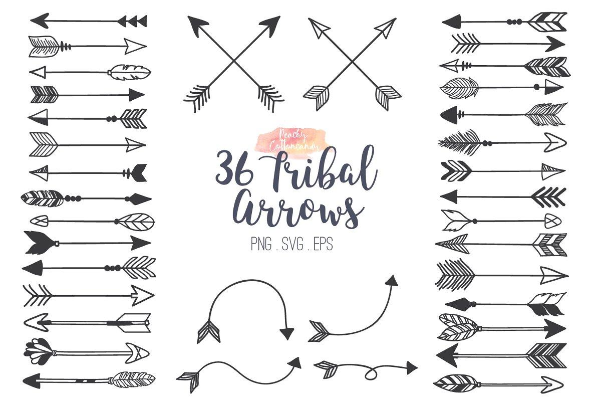 Tribal Arrows Clipart ~ Illustrations ~ Creative Market.