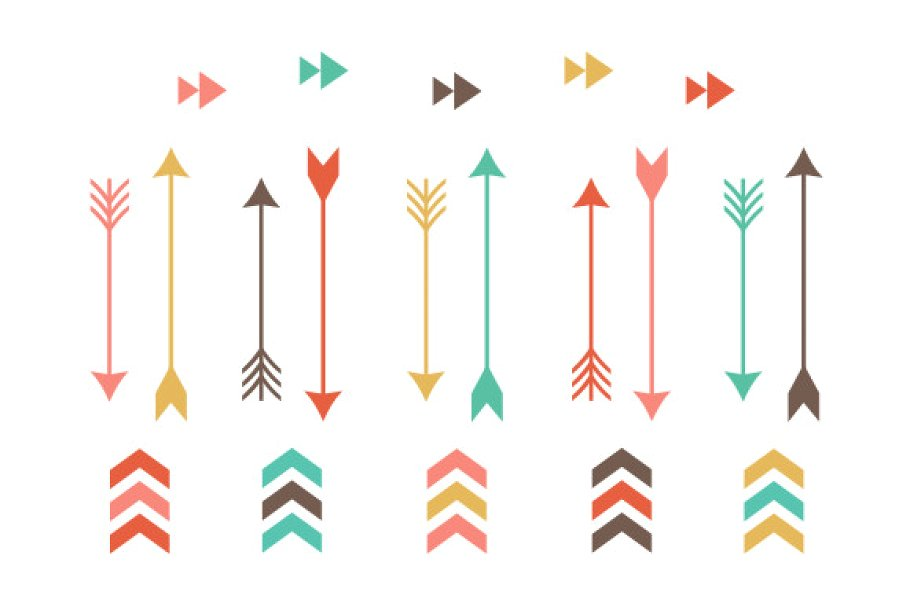 Tribal Arrow Clip Art.