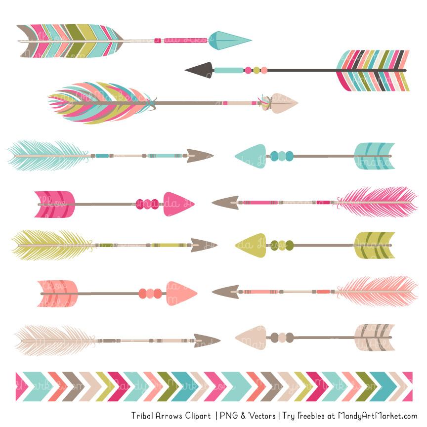Bohemian Tribal Arrows Clipart.