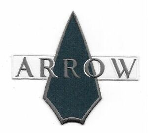 Details about DC Comics Arrow TV Series Name Logo Icon Embroidered 4 1/2\