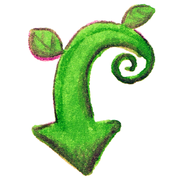 Vine Download Arrow Drawing Icon, PNG ClipArt Image.