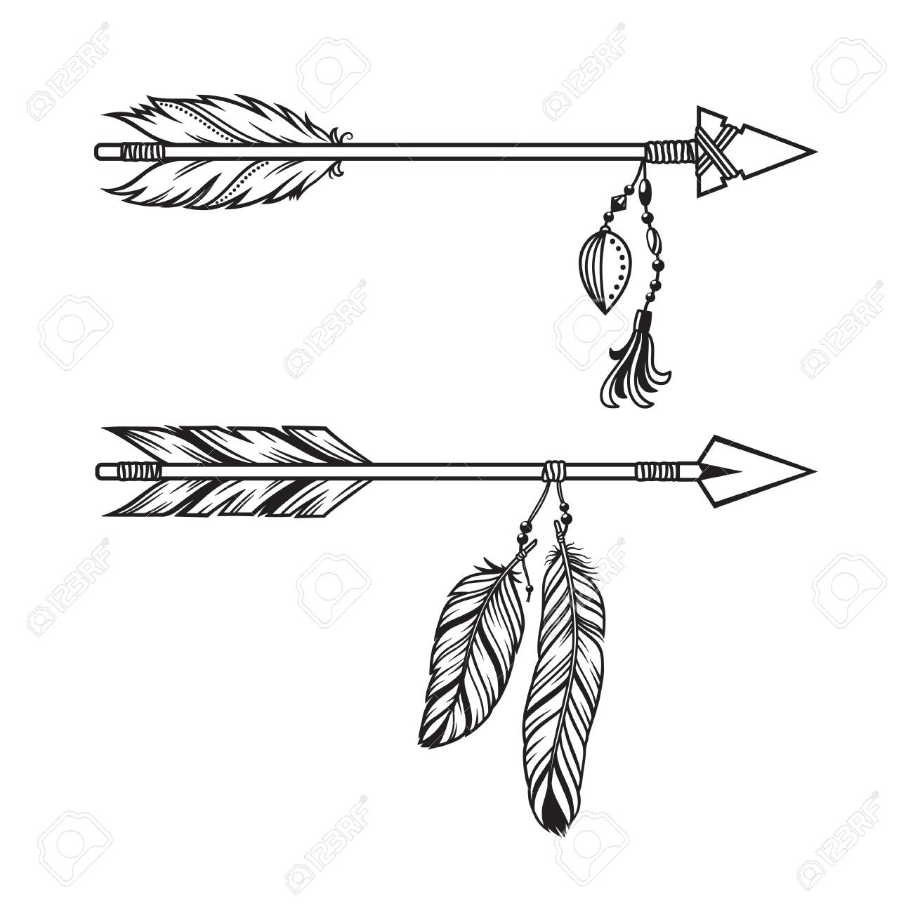 1697 Feathers free clipart.