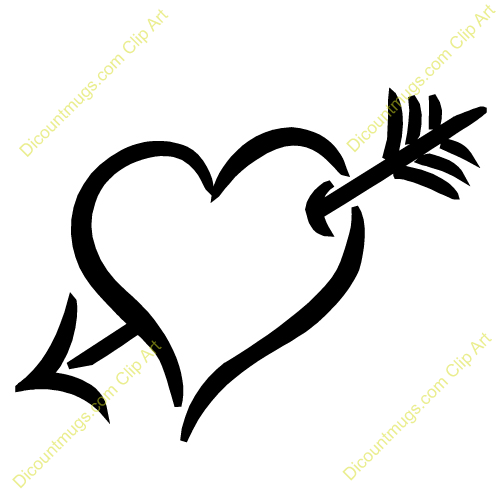 Arrow heart clipart 6 » Clipart Station.