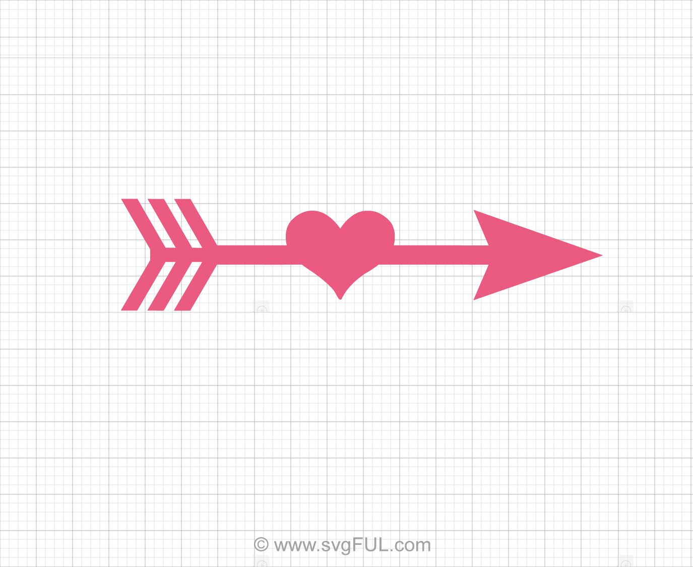 Heart Arrow Svg Clipart.