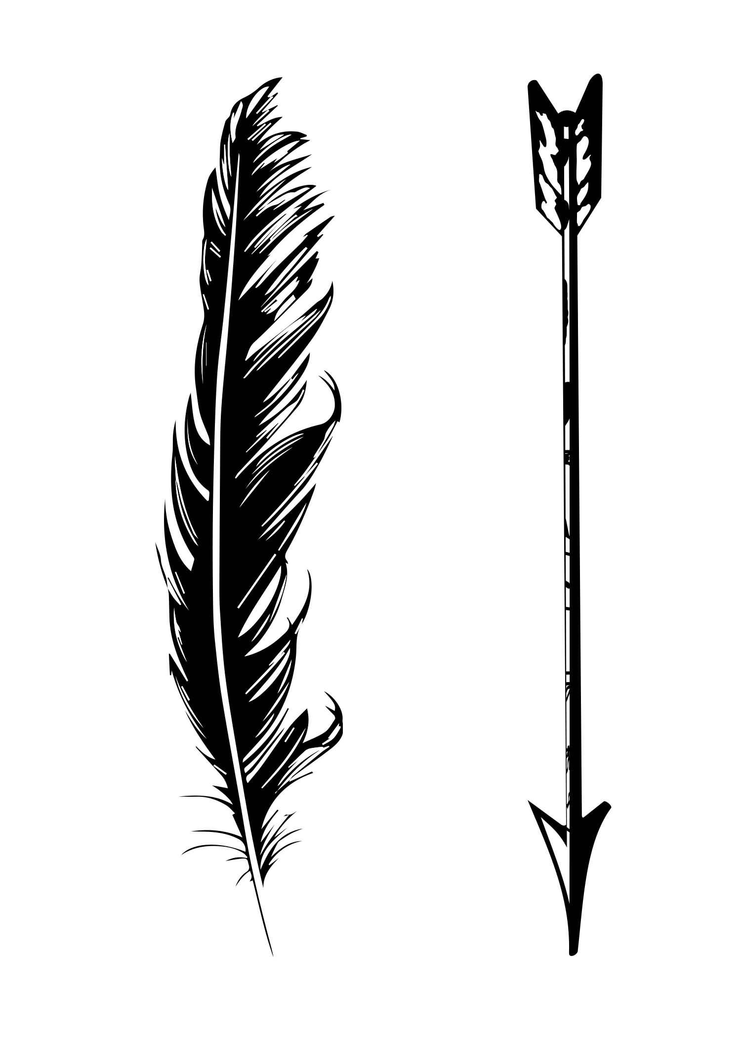 arrow feather.