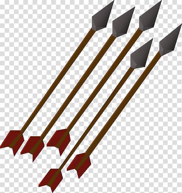 RuneScape Fletching Bow and arrow, Arrow Gold transparent.