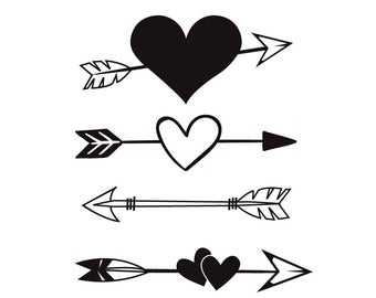 Heart arrow svg.